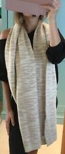 Studio JUX large scarf 100% wool Made in Nepal animal print beige scarf shawl