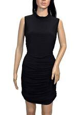 bebe Black Ruched Dress, Size 10