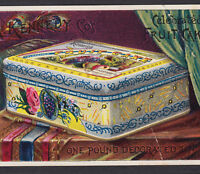 Fabulous Fruit Cake RARE Kennedy Biscuit Tin Holiday Folder Advertising Card
