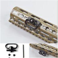 Quick Detach Tactical Push Button QD Sling Swivel Mount Fittings Rail Attachment