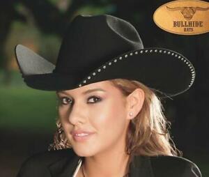 DELTA DAWN Black 4X Premium Wool Western Rodeo Cowboy Hat Bullhide MonteCarlo