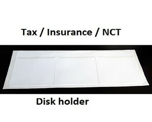 New White Windscreen Tax, Insurance, NCT Disc Holder for Cars Vans Taxi