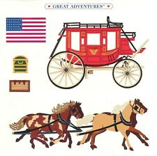 "6"" x 6"" ~ Horse Carriage Travel American Flag USA Grossman Sticker SALE ~"