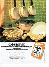 Publicité Advertising  088  1975   casseroles  poeles Céramic  Sitram -Inox *