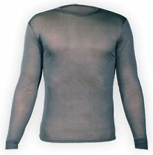 Hot Chillys Men's Silk Base Layer Top in Black PA3103 Size 2XL 100% Silk