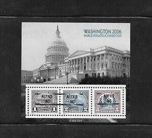 NC Precancels: Alexis 841; Washington 2006 Souvenir Sheet ($1/$2/$5) #4075
