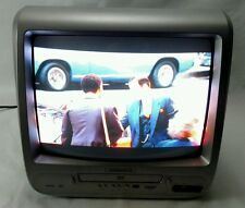 """Magnavox CD130MW8 13"""" CRT TV SDTV Tuner With Built-in DVD Player Combo No Remote"""