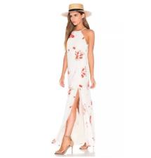 $198 PRIVACY PLEASE Size L Large Long Maxi Beldon Dress Cream Tulips REVOLVE NEW