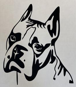1x Boxer Dog Vinyl Sticker Decal Graphic Car Van Window Bumper 4x5inch Black