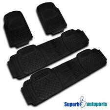 2 Front+2 Rear All Weather Heavy Duty Rubber Floor Mats Truck SUV 4PC Black Set