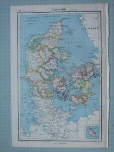 1943 MAP DENMARK HOLBAEK COPENGAHEN SORO ZEALAND FUNEN ODENSE SVENDBORG