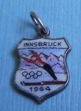 Olympics silver shield charm Vintage Innsbruck Austria 1964