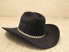 Summit Hat Co. Black Wool Felt Cowboy Hat Gold Rope Accents Size 6 5/8 Western