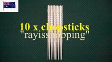 10 x Stainless Steel Chopsticks 5 pairs Korean Hollow Heavy Duty Stylish Classy