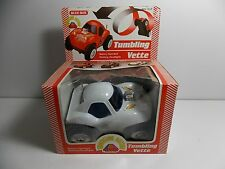"""1974 BLUE BOX BATTERY OPERATED """"TUMBLING VETTE"""" NEW IN BOX"""