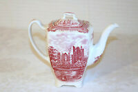 """Johnson Brothers OLD BRITAIN CASTLES Blarney England Pink 7 1/2""""h Coffee Pot"""