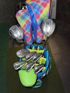 Ladies Women Adams Idea Tight Lies Golf Clubs Irons Set 6-pw 5 Hybrid 3 5 7 Wood