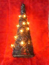 Lichter Pyramide Weide braun DEKO fürs ganze Jahr mit Glitzer 40 cm OVP