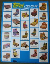 Rare Topps Line Up Of Stars Sell Sheet Garbage Pail Kids Candy