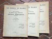 revue LES PIERRES DE FRANCE Achille Carlier Protection anciens monuments 1937