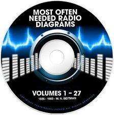 Beitmans Tube Radio Diagrams Amplifier Servicing Schematics V1-27 Manuals on DVD
