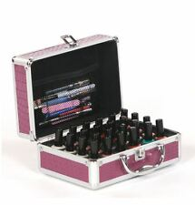Urbanity Nail Polish Varnish Beauty Cosmetic Makeup Vanity Case Briefcase Purple