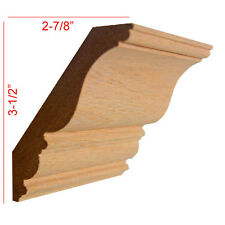 """Red Oak Crown Molding Trim 3/4"""" x 4-1/2"""" x 96"""" Unfinished Solid Hard Wood"""