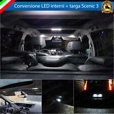 KIT LED INTERNI RENAULT SCENIC III CONVERSIONE COMPLETA + LED TARGA 6000K BIANCO