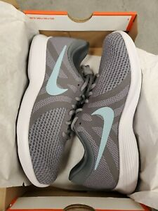 Nike Revolution 4  WOMENS   SIZE: 7.5M    Running Shoes  Grey / Blue  908999 004