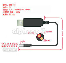 USB DC 5V to DC 12V Step up Power Supply Module Converter 2.1x5.5mm Male Plug