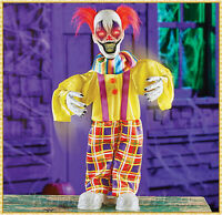 Sound Activated Scary Evil DANCING CLOWN Animated Halloween Haunted House Prop
