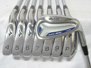Used RH Mizuno MX-200 Forged Iron Set 4-P,G Regular Flex Steel Shafts