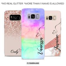 Nombre Personalizado de fantasía iniciales de Silicona Teléfono Estuche para SAMSUNG GALAXY S7 S8 S9