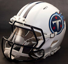 TENNESSEE TITANS NFL Authentic GAMEDAY Football Helmet w/ CU-S2BD-SW Facemask