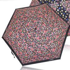 "Coach F58138 Posey Cluster Flower Floral 7"" Compact Folding Mini Umbrella W/ Bag"