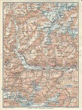 Carta geografica antica ALTA VAL VENOSTA ALTO ADIGE 1920 Old antique map