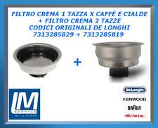 FILTRO CREMA 1 TAZZA X CAFFÈ E CIALDE + FILTRO CREMA 2 TAZZE DE LONGHI ORIGINALI