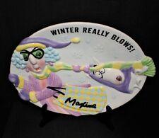"Hallmark Maxine and Floyd ""Winter Really Blows� Ceramic 14"" Cookie Platter"