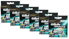 48x Gillette Mach3 Klingen Rasierklingen in 6x 8er OVP  / 48er razor blades