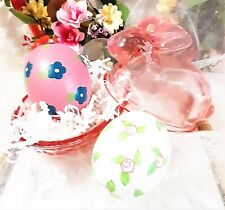 New! L.E. Smith Glass Covered Pink Bunny Rabbit Easter Spring New With Tags Nib
