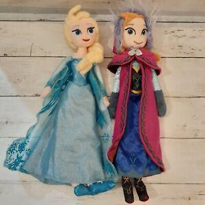 "Disney Frozen ELSA & ANNA 14"" Plush Stuffed Doll Just Play"