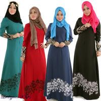 Muslim Kaftan Abaya Islamic Women Long Sleeve Vintage Cocktail Maxi Dress Lot