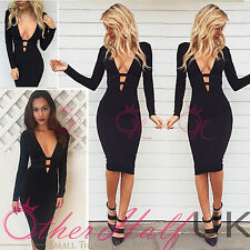 Women's No Pattern Long Sleeve Cocktail Stretch, Bodycon Dresses