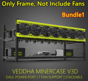 Veddha - Aluminum Stackable - Open Air Mining Frame/Case - 6 or 8 GPU