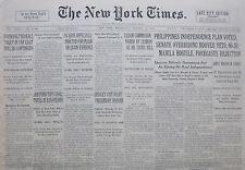 1-1933 January 18 LIQUOR COMMISION NAMED BY LEHMAN. PROHIBITION. HOUDINI ADVERT