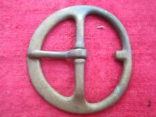 "LARGE ANTIQUE 3 3/4"" BRASS BELT BUCKLE"