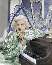 8x10 Print Jean Harlow Beautiful Colorized Fashion Portrait 1933 #JHEN