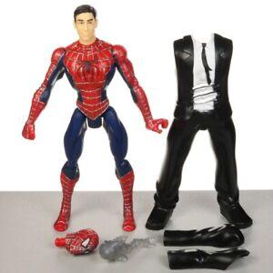 "Marvel Spider-Man 3 Movie Quick Change PETER PARKER 5"" Action Figure Hasbro 2008"