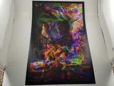 JIMI HENDRIX poster 16x11 color changing RGB print -by jumbie art