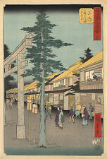 Japanese Art: Hiroshige Print Reproductions - Mishima Shrine - Fine Art Print
